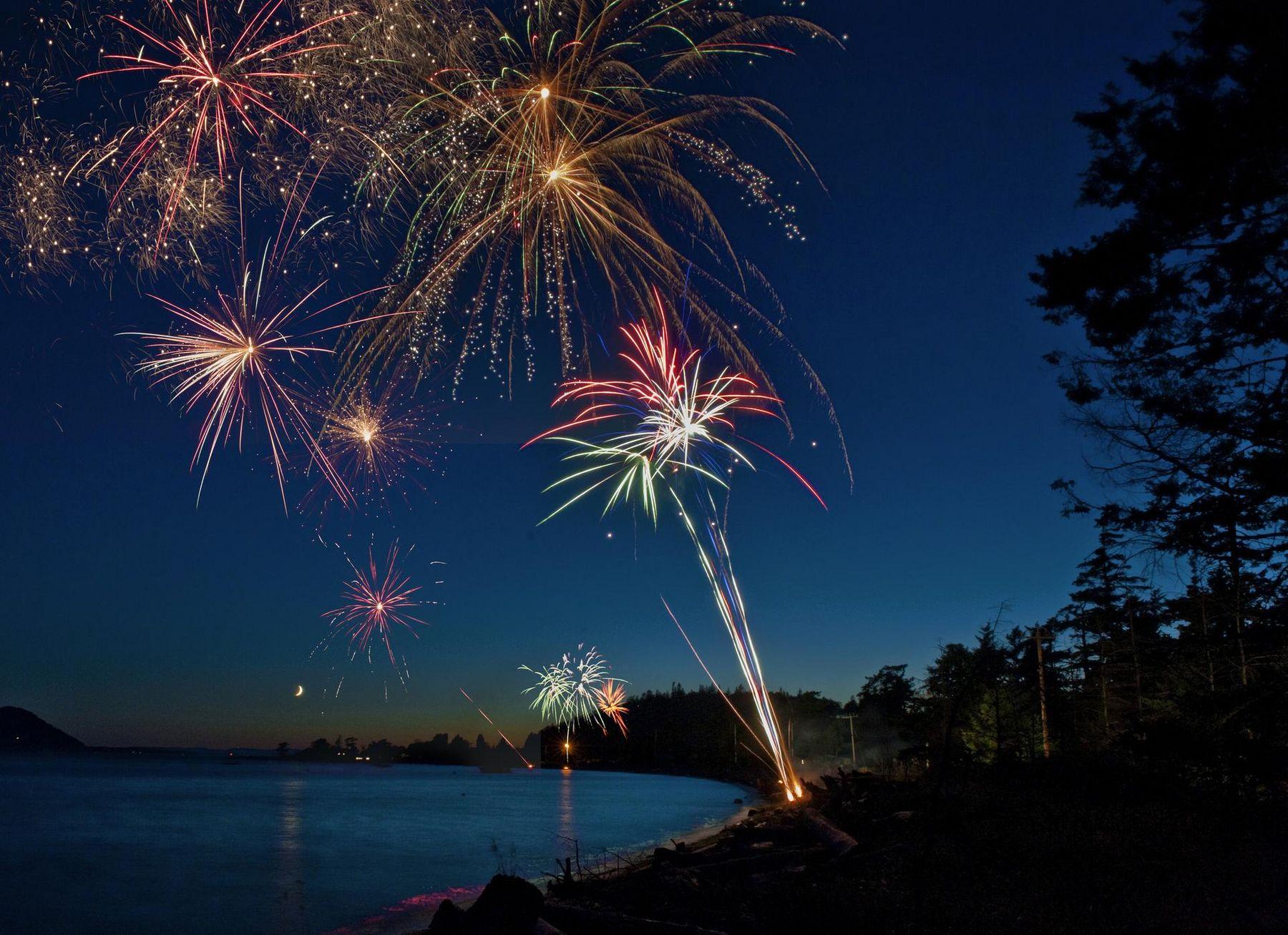 Feuerwerk Strand
