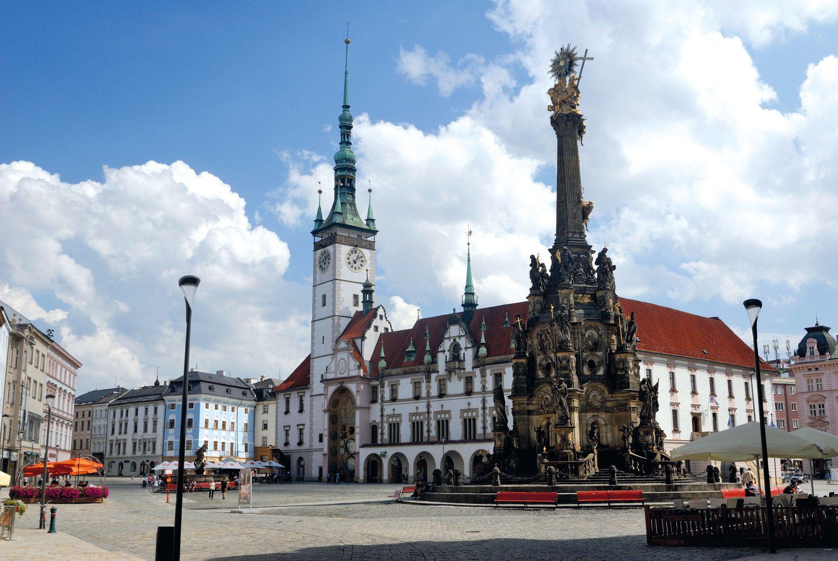 Olomouc Tschechische Republik Stockfoto web