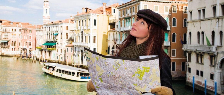 Venedig frau landkarte