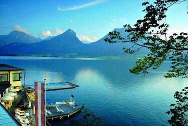 Der Wolfgangsee, mit älterem Namen auch Abersee, ist ein See in Österreich. Er liegt zum größten Teil im Nordosten des Bundeslandes Salzburg, ein kleiner Teil gehört zu Oberösterreich, und er ist mit 13 km² einer der größten und bekanntesten Seen in der Region Salzkammergut.