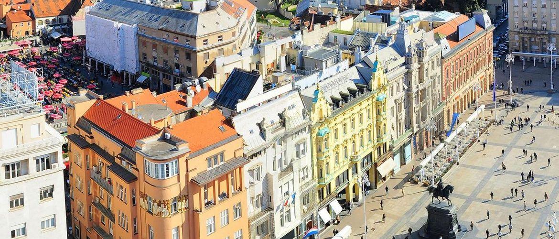 Zagreb Luftaufnahme