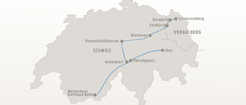 Karte Glacier Express 01